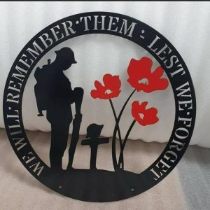 We Will Remember Them Wall Plaque For House 2