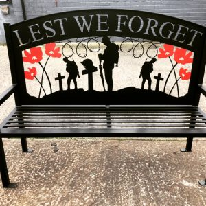 Lest We Forget Outdoor Bench