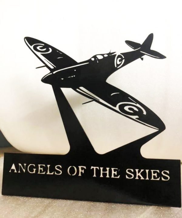 Metal Spitfire Silhouette