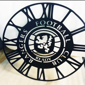 Rangers FC Metal Wall Clock
