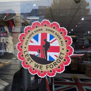 Lest We Forget Window Stickers