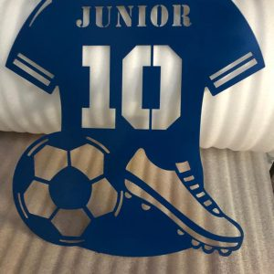 Blue Personalised Shirt with Ball