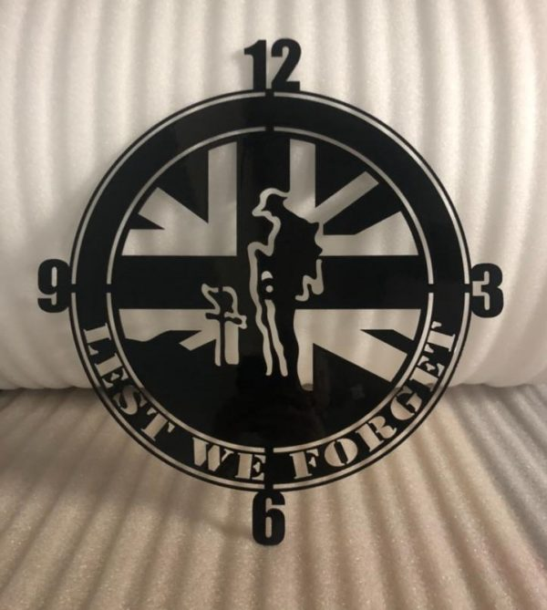 Lest We Forget - Wall Clock