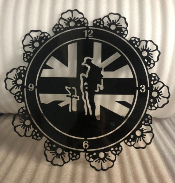 Lest We Forget - Wall Clock With Poppies