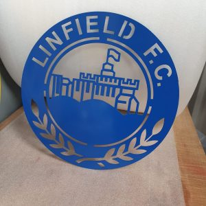 Linfield FC Metal Wall Plaque