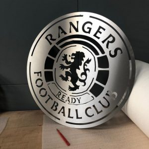 Rangers FC Stainless Steel Wall Plaque