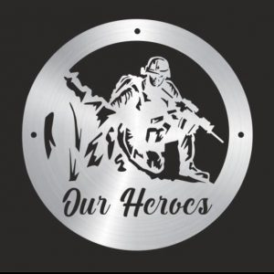 Our Heroes, Kneeling Soldier Wall Plaque