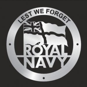 Royal Navy Flag, Lest We Forget Wall Plaque