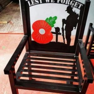 Lest We Forget Metal Seat