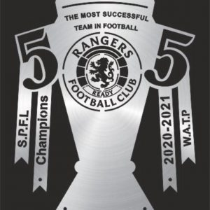 Rangers FC 55 Wall Plaque